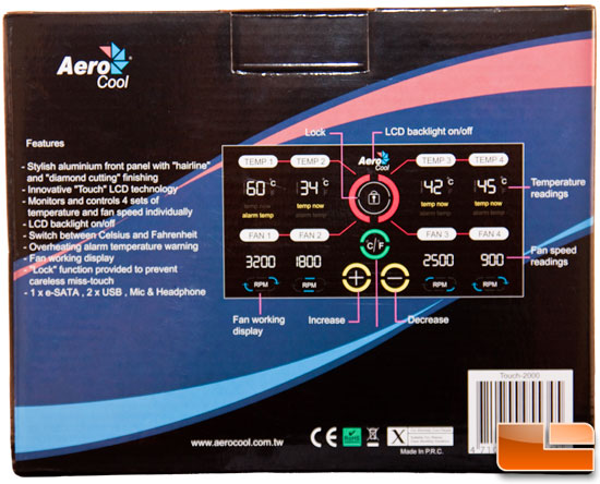 AeroCool Touch-2000 Box Back