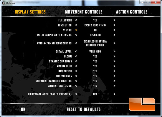 Arkham Asylum Controls