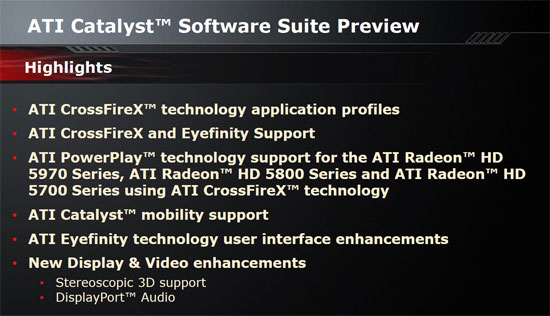 ATI Catalyst Control Center 10.2 features