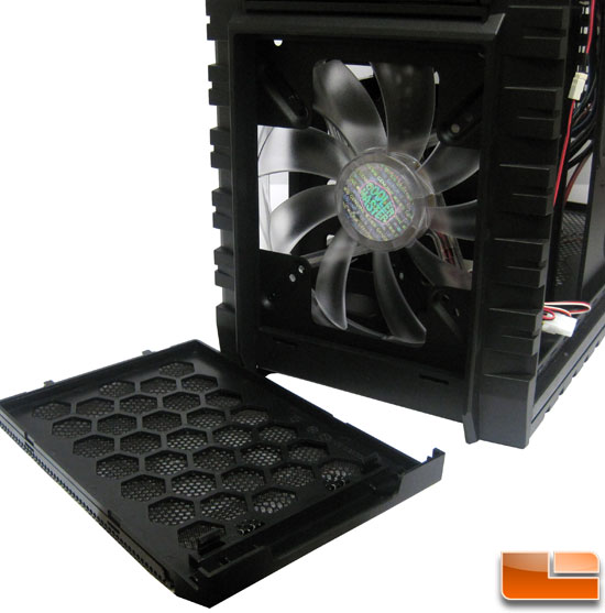 Cooler Master HAF X front fan and filter