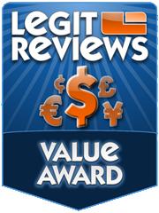 LegitReviews.com Value Award