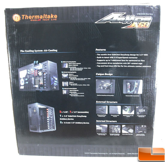 Thermaltake Armor A60 Mid Tower Case Box Rear