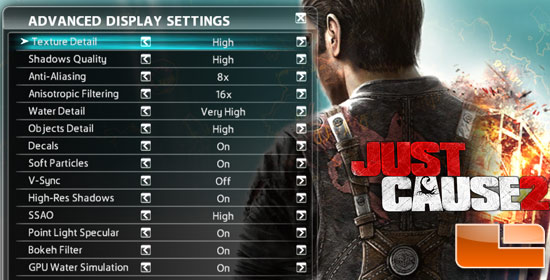 Just Cause 2 Game Settings