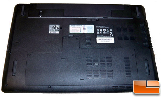 Acer Aspire 7551G Bottom