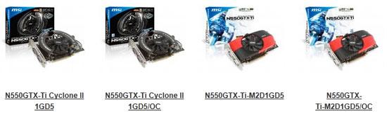 MSI N550GTX-Ti Cyclone II OC Video Card Review