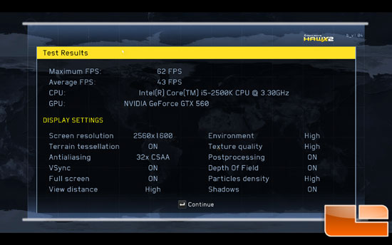 H.A.W.X 2 benchmark results