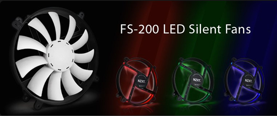 NZXT FS LED Silent Fan Series