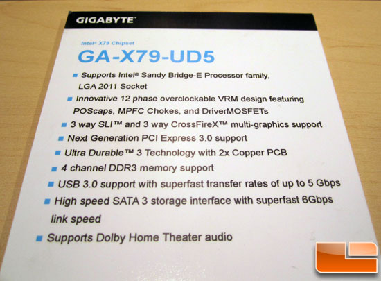 GIGABYTE GA-X79-UD5 Motherboard Preview
