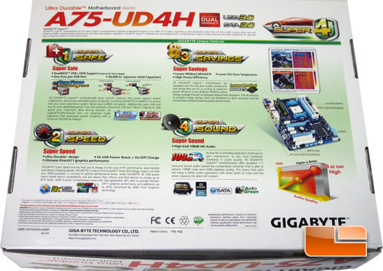 GIGABYTE A75-UD4H Retail Packaging and Bundle