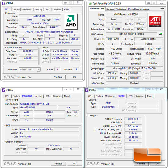 GIGABYTE A75-UD4H Motherboard System Settings