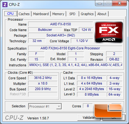 AMD FX-8150 Bulldozer Processor Idle