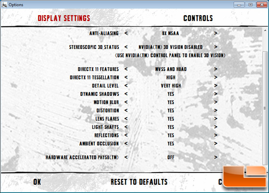 Batman: Arkham City Game Settings