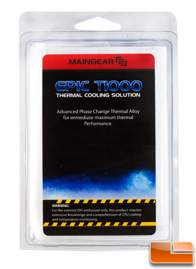 Epic T1000 package front