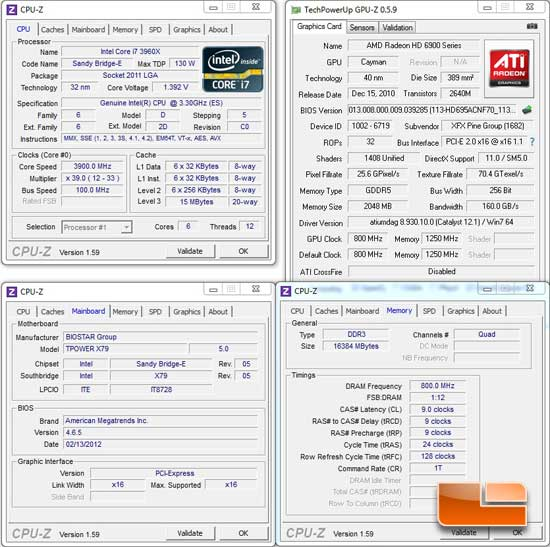 BIOSTAR TPower X79 Intel X79 System Settings