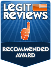 Legit Reviews Recommended Award