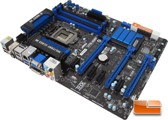 MSI Z77A-GD65 'Ivy Bridge' Motherboard Layout