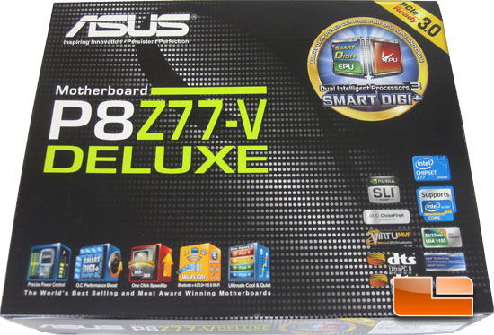 ASUS P8Z77-V Deluxe Retail Packaging