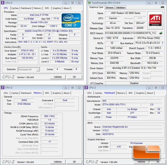 MSI Z77A-GD65 System Settings