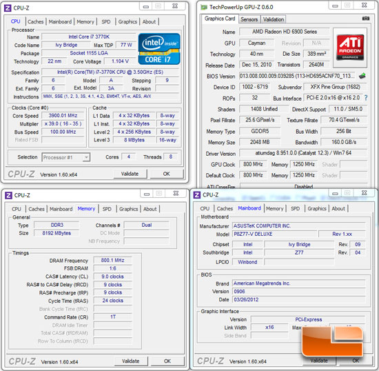 ASUS P8Z77-V Deluxe System Settings