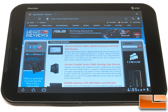 Pantech Element AT&T 4G LTE Tablet PC