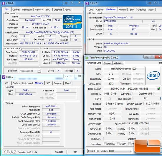 Intel X79 Test Settings