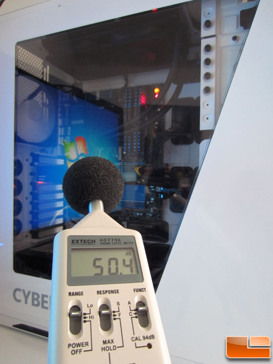 CyberPowerPC Zeus Thunder 2500 SE Noise Level