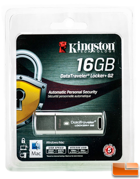 Kingston DataTraveler Locker+ G2 16GB