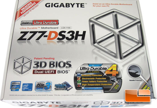 GIGABYTE Z77-DS3H Retail Box and Bundle