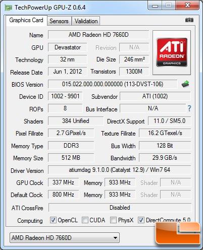 AMD A10-5800K Processor GPU-Z