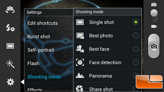Samsung Galaxy Note II Camera
