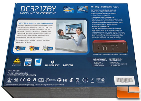 Intel NUC DC3217BY Retail Box
