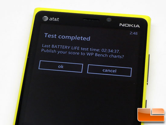 Nokia Lumia 920 Battery Life
