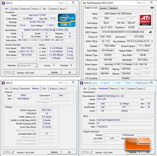 GIGABYTE Z77X-UP7 System Settings