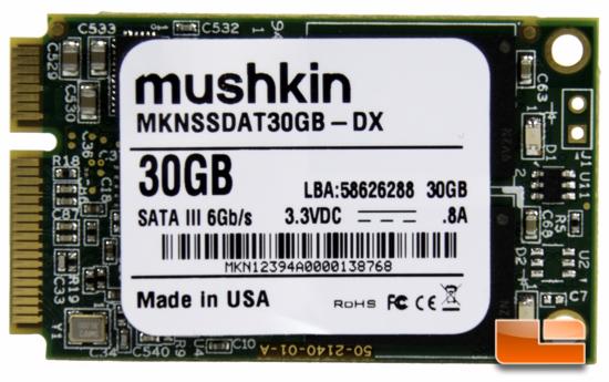 Mushkin Atlas Deluxe mSATA 30GB SSD Review