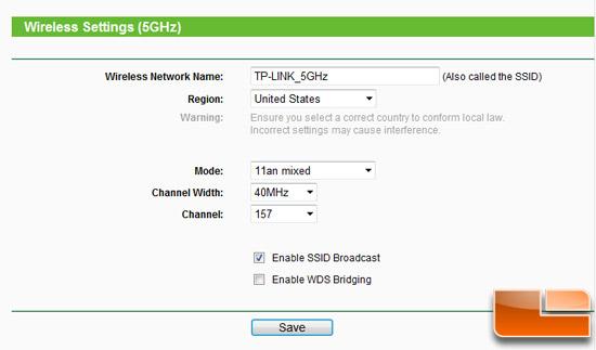TL-WDR3500 GUI