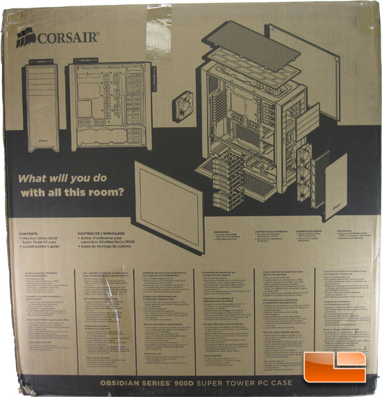 Corsair Obsidian 900D Super Tower Chassis Product Packaging