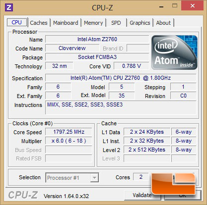 ASUS VivoTab Smart ME400 Tablet CPUz