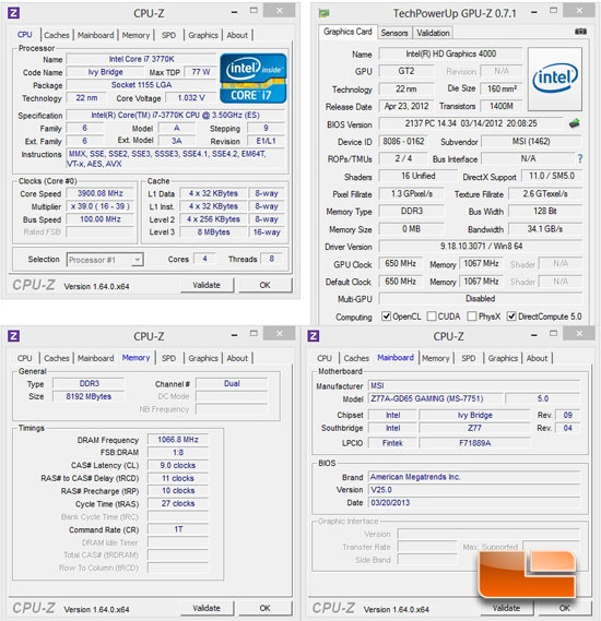 MSI Z77A-GD65 Gaming Motherboard System Settings