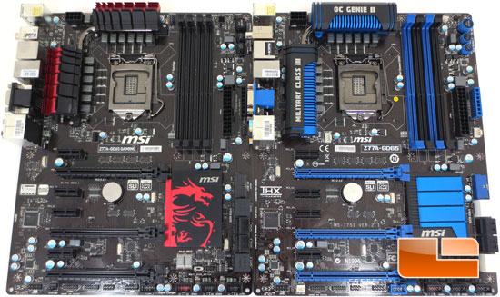 MSI Z77A-GD65 Side by Side