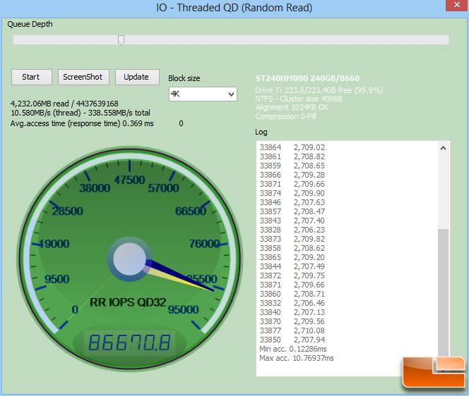 Seagate 600 240GB Anvil Read IOPS