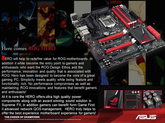 ASUS Republic of Gamers Maximus VI Hero Intel Z87 Motherboard Layout