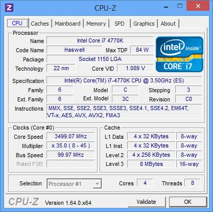 I7 4770k Oc