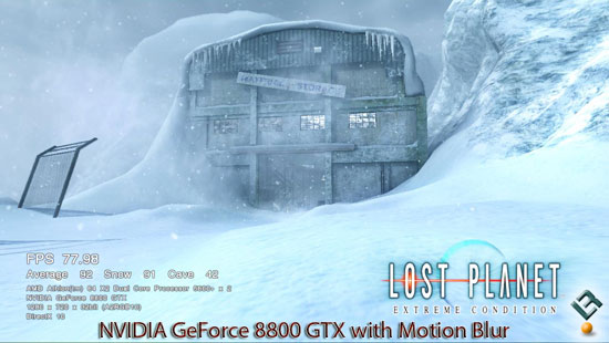 Lost Planet on NVIDIA GeForce 8800 GTX