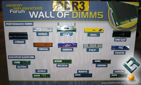 IDF Fall 2007 – DDR3 Memory Modules All Around