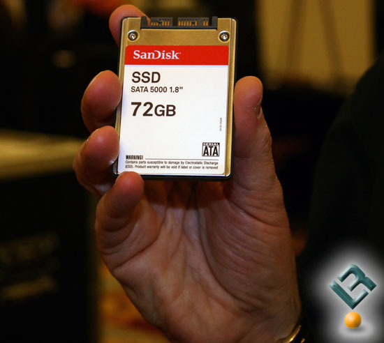 "CES 2008: SanDisk 72GB SSD SATA 5000 1.8"""