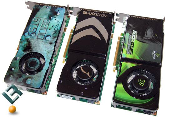 Geforce 8800 Gts 512mb Roundup Albatron Evga And Xfx