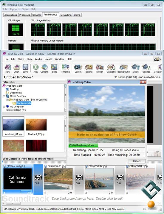 Photodex Proshow Gold 3.2 Benchmarking