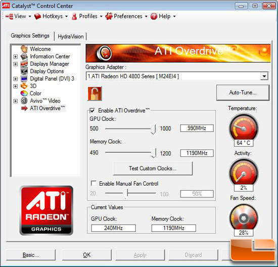 ATI Radeon HD 4890 OC Video Card Overclocking