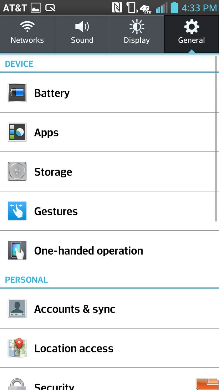 LG Optimus G Pro Smart Phone ReviewLG Optimus G Software