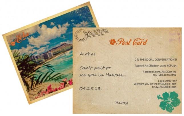 Aloha from Ruby